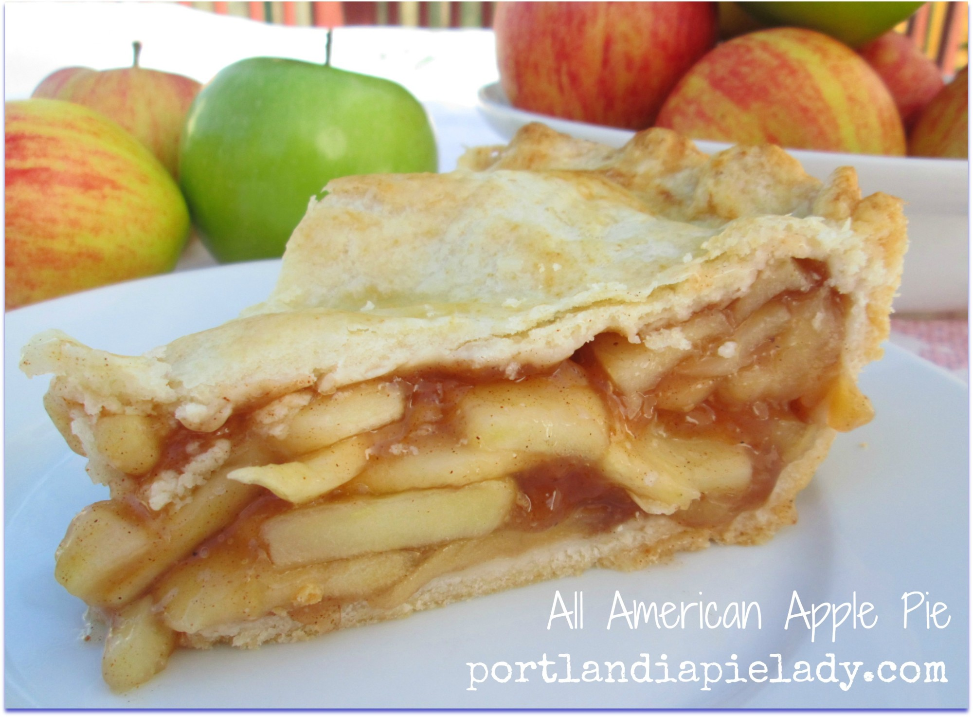 All American Apple Pie: Take your favorite combination of Fall fresh off-the-tree tart apples and cider and bake it into this All American Classic Apple Pie!