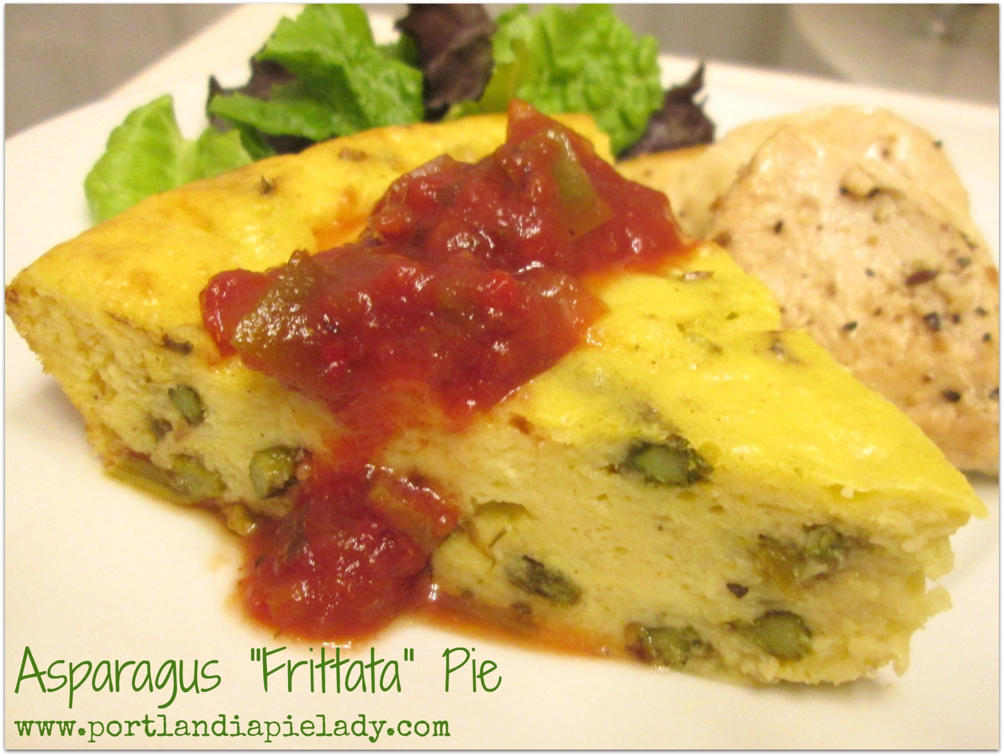 Asparagus Frittata With Horseradish Sour Cream Recipe ...
