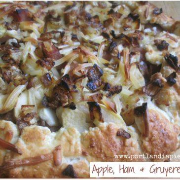 Rustic Apple, Ham & Gruyere Galette
