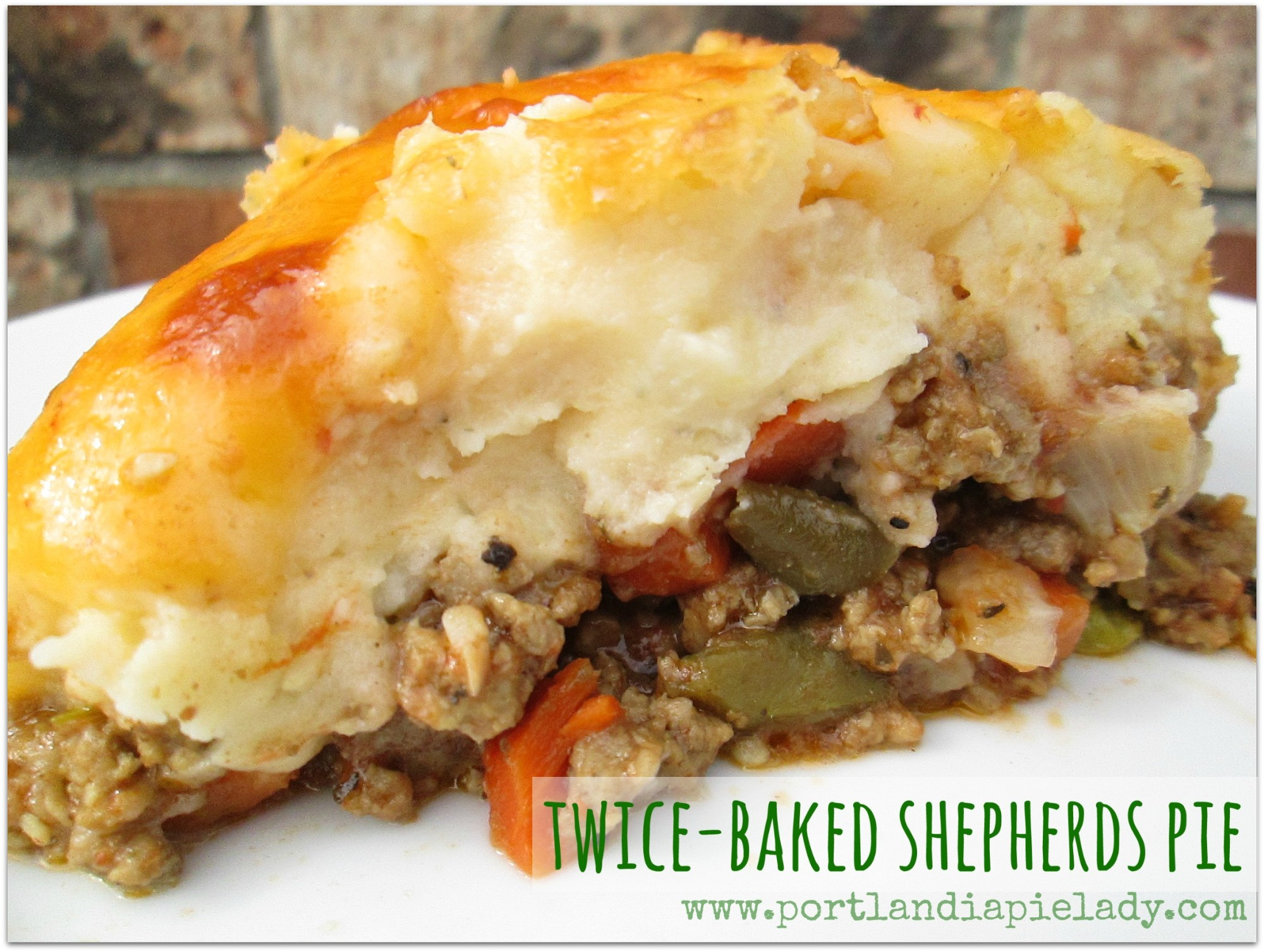 Twice-Baked Shepherds Pie: The ultimate (healthy) comfort food with ranch mashed potatoes that are SUPERB! The best Shepherds Pie you will ever have, promise.