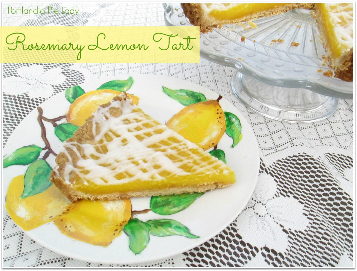 Rosemary Lemon Tart: This is a luscious lemony dessert, easy to make, and a perfect way to finish off any spring day.