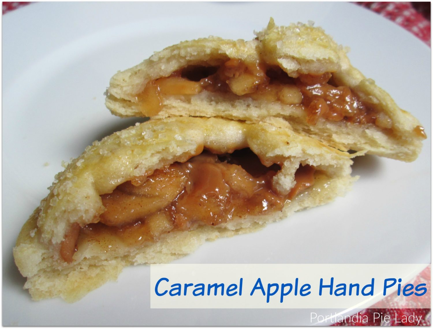 Caramel Apple Hand Pies a.k.a. Nature's Candy. Tart apple pie filling & melty caramel bits baked into a flaky tender crust hand-pie.
