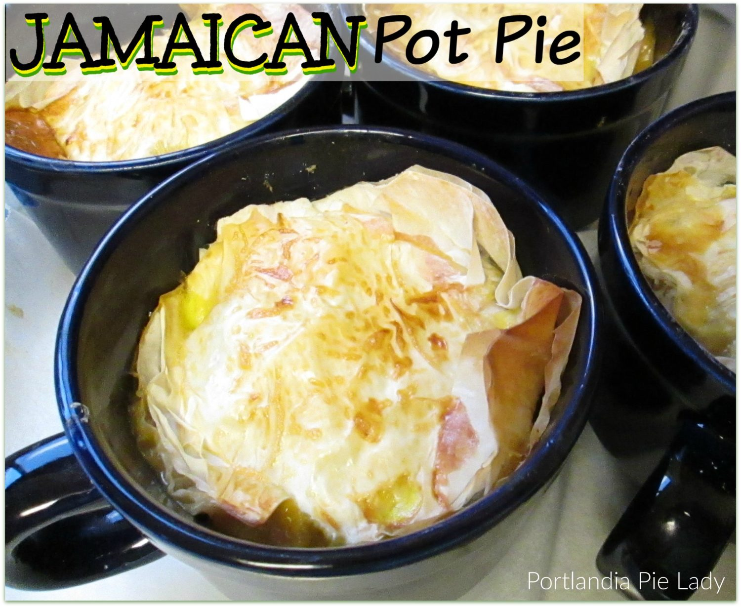 A warm and comforting medium or super spicy turkey pot pie with the flavors of a Jamaican kitchen. A new and tasty twist on an old favorite.