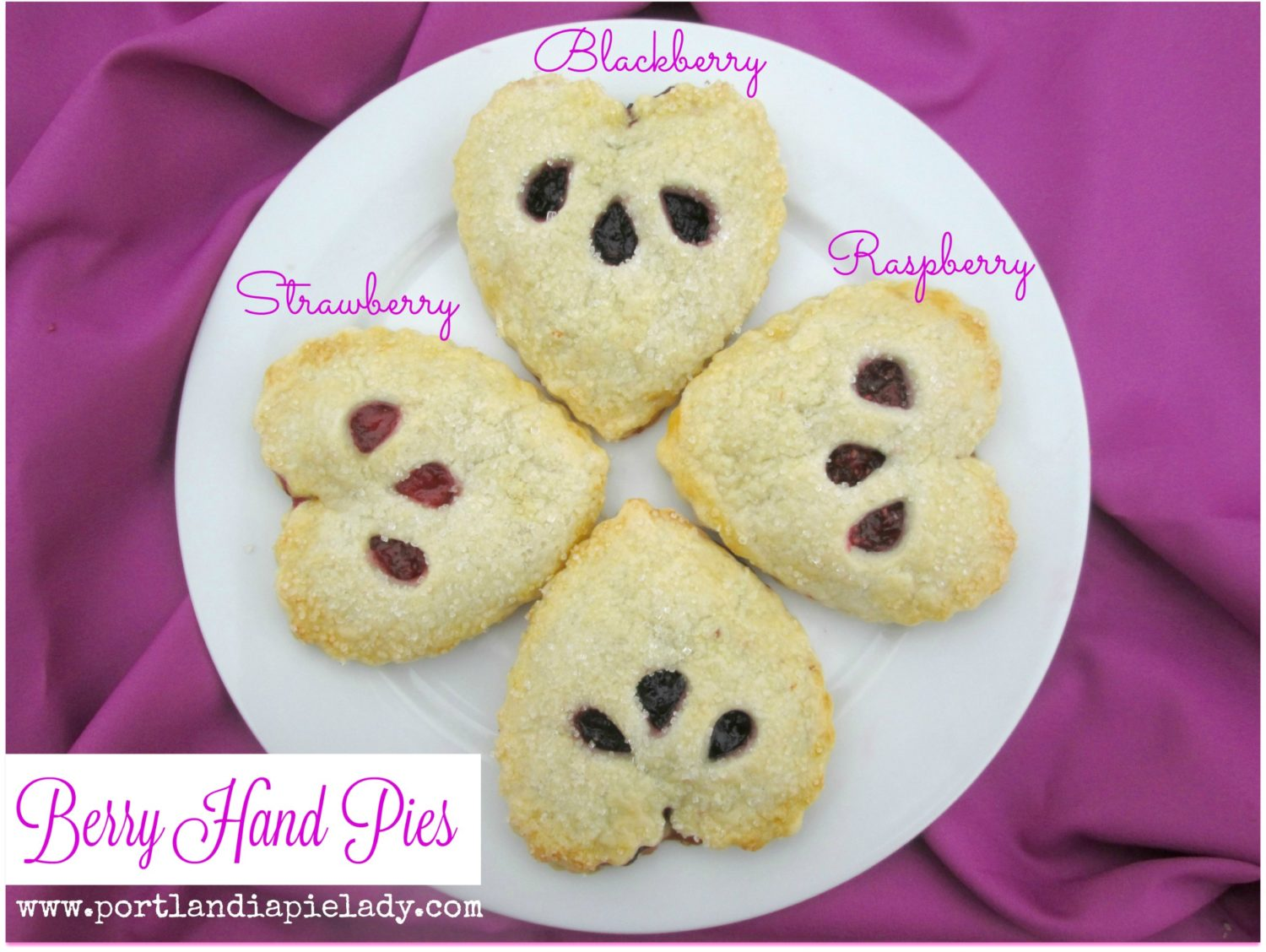 Say I LOVE You with easy to make but incredibly berry-licious heart-shaped hand piesl Each bite tastes like freshly picked berries plucked with love; the combination of berries is endless.