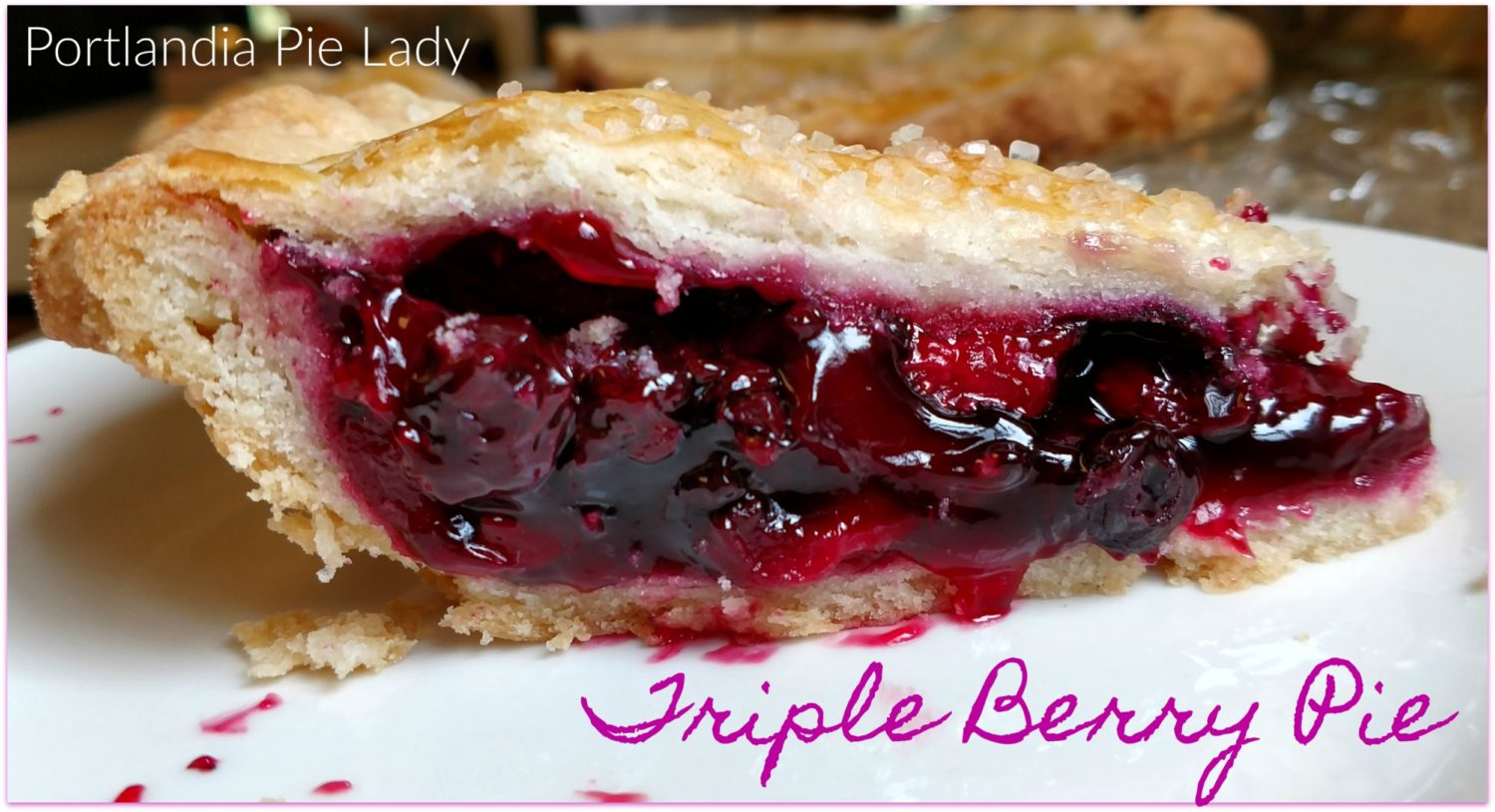 Triple Berry Pie captures that fresh-picked berry taste, perfectly baked filling in an ultra flaky crust; no watery runny berry pie ever again!
