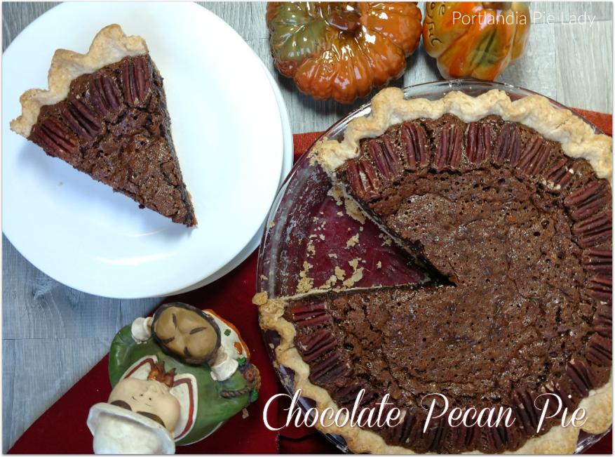 Chocolate Pecan Pie - Portlandia Pie Lady